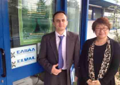 2012年参观希腊ELVAL工厂与销售经理Babis Chaikos合影
