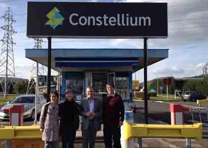 2014年参观肯联constellium法国工厂