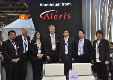 德国铝展与Aleris爱励高层管理合影